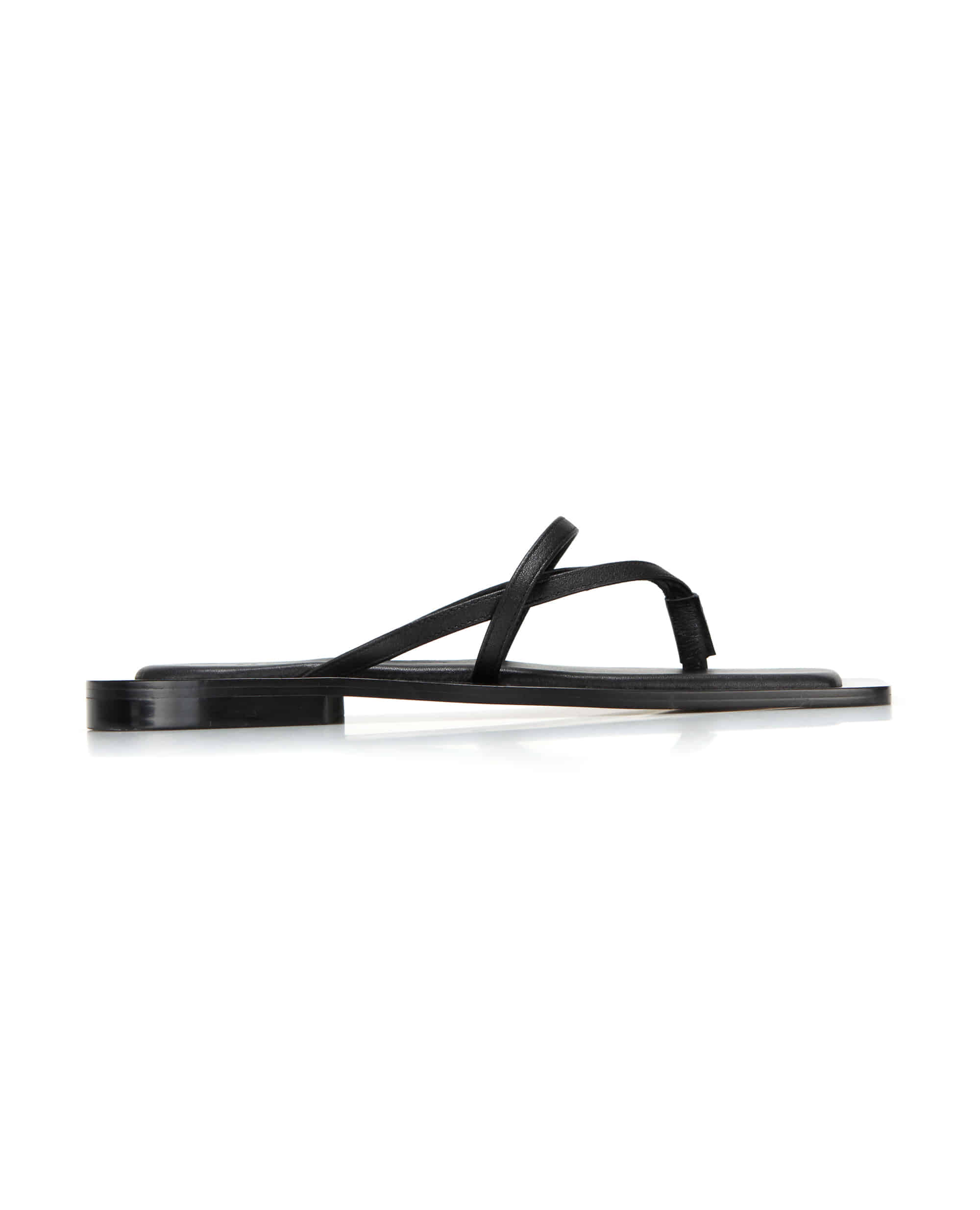 Wide square sole sandals | Black