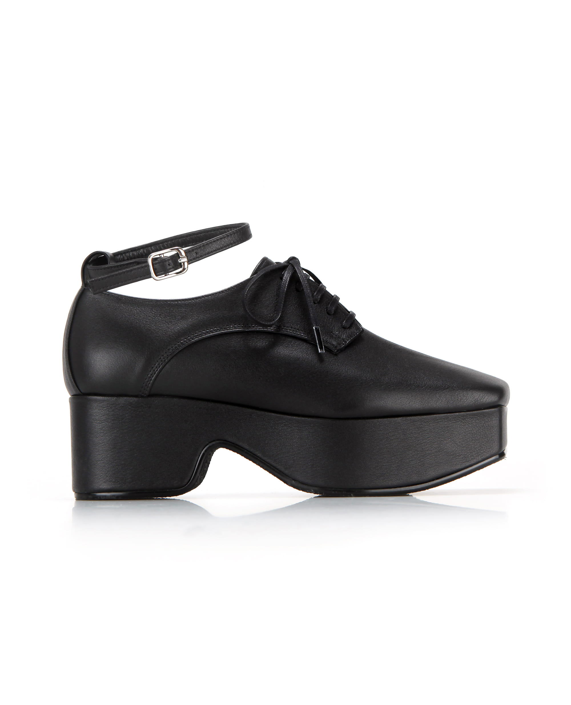 Squared toe derby platforms (+ball chain) | Black