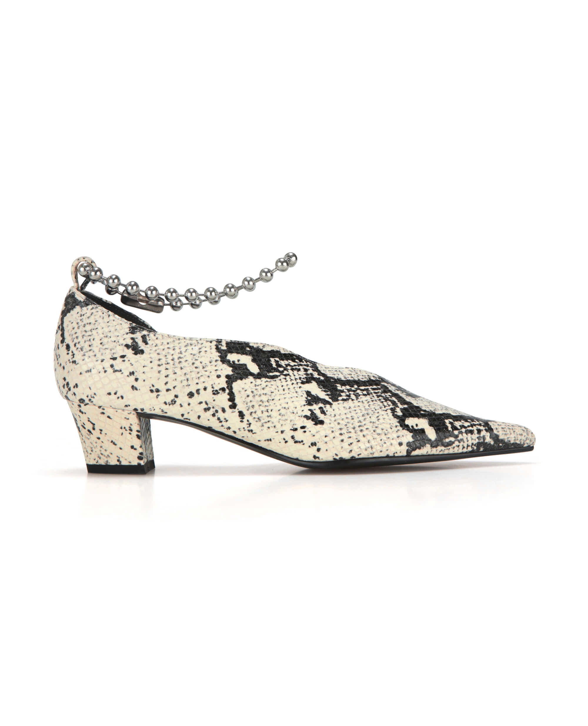 Extreme sharp toe streamlined heels (+ball chain) | Butter snake
