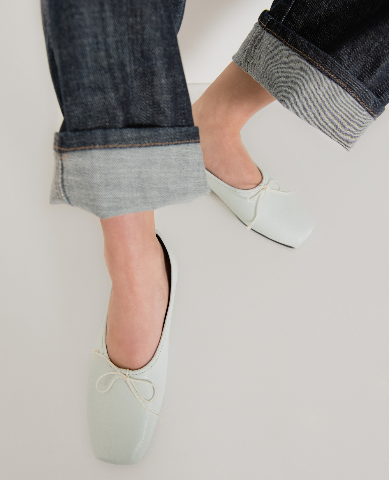 Ballet Toe Ballerinas | Pale mint